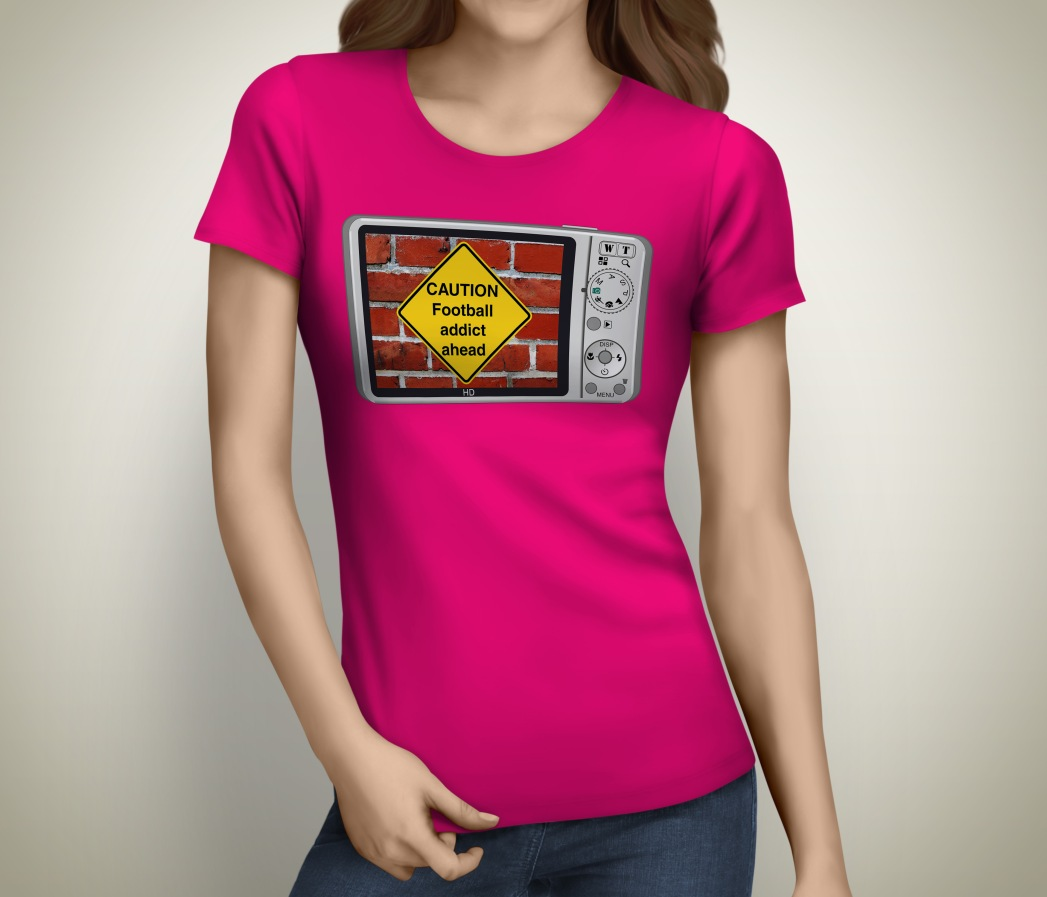 Caution_football_addict_tshirt
